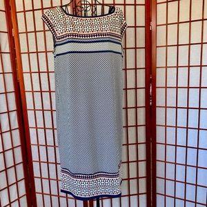 Max Studio Patterned Midi Sheath Dress